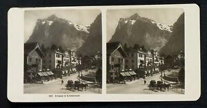 17.STEREOVIEWS>SWITZERLAND/SCHWEIZ<GRINDELWALD, Strasse in Grindelwald