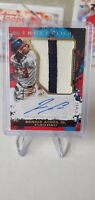 2021 Topps Inception Red Ronald Acuna Jr. Jumbo Patch AUTO 47/50 Braves
