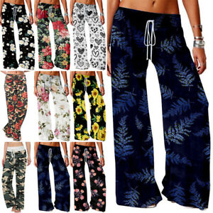 Womens Boho Baggy Harem Pants Hippie Wide Leg Gypsy Yoga Palazzo Casual Trousers