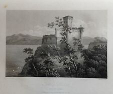 ITALIA. LIGURIA, CSTLE OF LERICI. GRABADO ORIGINAL DE HAKEWILL, 1820
