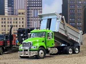 1/64 FIRST GEAR LIME GREEN MACK GRANITE DUMP TRUCK