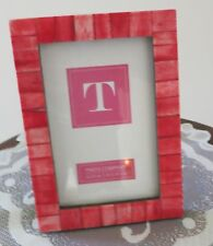 4 x 6 Reddish Toned Tile and Wood Easel Back Frame with Glass
