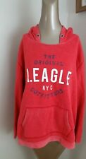 American Eagle Womens Graphic Pullover Hoodie Red size L