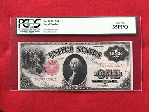 FR-39  1917 Series $1 United States Legal Tender Note *PCGS 35 PPQ Choice VF*