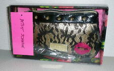 NWT Betsey Johnson Betseyville METALLIC GOLD BLACK LACE WRISTLET *In Box