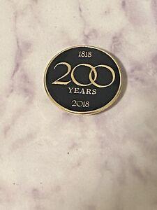 RARE Brooks Brothers 200 Year Anniversary 1818 - 2018 Pin Blazer Jacket Magnetic