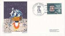 SPACE COVER -APOLLO 17 LUNAR LANDING ASTRO DOCUMENA COVER #2 SATELLITE BEACH FL