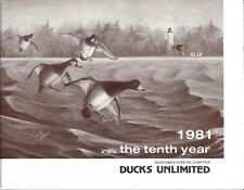 1981 Ducks Unlimited 10 year anniversary program Erie Pa sponsors