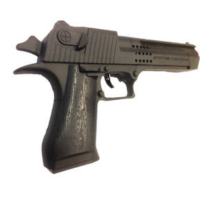 Kids Plastic Toy Police Gun, No Batteries, Pull Trigger for Sounds, Orange End
