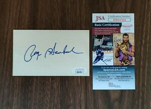 Roger Staubach Cowboys Signed 3x5 Index Card JSA Certified Authentic Autograph