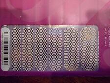 Jamberry Nails 1/2 Sheet (new) METALLIC SILVER & WHITE FISHNET