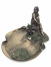 Art Nouveau Lady Tray Sculpture Jewelry Dish Statue Figurine