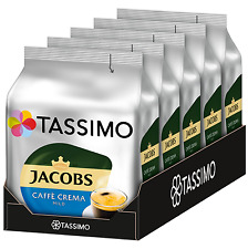 TASSIMO Jacobs Cafe Crema MILD coffee pods / k-cups -5 PACK-