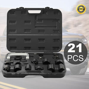 21Pieces Auto Repair Service Remover Ball Joint Press Tool Master Adapter Kit
