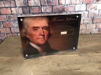 "THOMAS JEFFERSON SIGNED HANDWRITTEN 1812 PSA/DNA FRAMED HISTORIC ""COUNTY"""