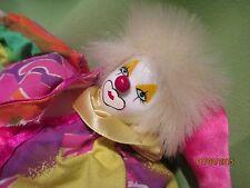 Gold Deer & Co. Clown Porcelain - Pink & Multi-Color Outfit Clown