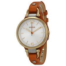 Fossil Women's Georgia ES3565 Brown Leather Quartz Watch