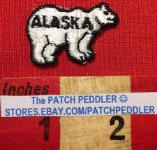 TiNy Polar Bear Patch ~ Alaska Souvenir Emblem For Hat Or Jacket 5Db8