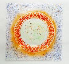 Vassoio in vetro fuso,CentroTavola,pezzo unico,soprammobile,regalo,Made in Italy