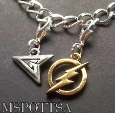 The Flash Green Arrow Silver Charm Bracelet Charms Clips Ons Purse Zipper Pulls