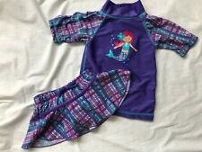 UV Skinz Rash Guard & Matching Skirt Swimwear Swimsuit Purple Mermaid 12-18M UPF