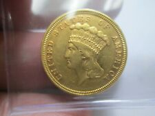 1854 3 DOLLAR PRINCESS HEAD GOLD COIN IN ABOUT UNCIRCULATED CONDITION