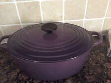 Le Creuset 29cm/ 4.7L Oval Casserole Dish Cassis New
