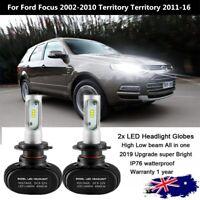 2PC H7 LED Headlight Globe for Ford Focus 2002-2010 Territory Territory 2011-16