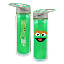 Sesame Street Oscar the Grouch Face Logo 18 oz Green Tritan Plastic Water Bottle