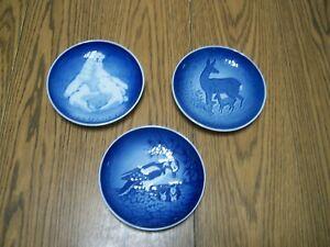 copenhagen porcelain mothers day plates 1974 1975 1980 b&g 9375 9374 lot of 3
