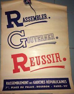 RASSEMBLEMENT DES GAUCHES RÉPUBLICAINES. DEUX AFFICHES. 1946-1950.