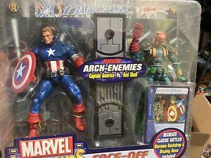 Marvel Legends Face Off Red Skull Vs Captain America Unmasked Variant Avengers