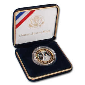 2000 W US Bimetallic $10 Library of Congress Commemorative Proof in OGP
