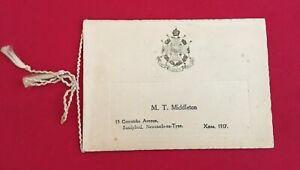 The Border Regiment 1917 Christmas Card