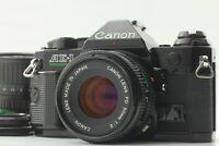 【N Mint+++】 Canon AE-1 Program Black w/ 50mm F2 , 35-70mm f3.5-4.5 From Japan