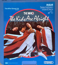 THE WHO - THE KIDS ARE ALRIGHT - RCA SELECTAVISION VIDEODISC - CED