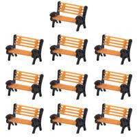 10pcs Model Train 1:150 Bench N Z Scale Model Chair Settee Park Scenery YZ150