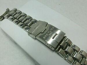 Original BREITLING-Stahlband mit Faltschließe, 20 mm