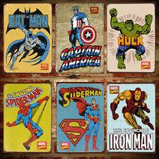 Vintage Retro Marvel Super Hero Avenger Poster Graphic Design Print 9 Characters