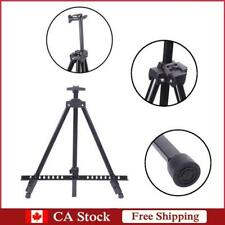 Artist Iron Folding Easel Light Weight with Carry Nylon Bag Black Displays