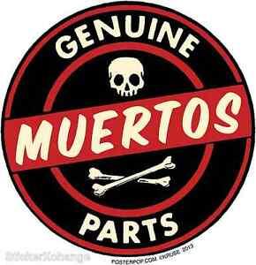 Genuine Muertos Parts Sticker Decal Kruse RK38 Roth Like