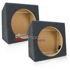 "Two (2) Single 12"" Sealed Solid MDF Under Seat Subwoofer Sub Box Enclosure New"