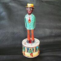 Tinplate Dancing Sam Tin Toy Antique Vintage Retro Tested