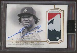 2020 Topps Dynasty Ronald Acuna Jr. GU MLB LOGOMAN Patch AUTO 1/1 Braves