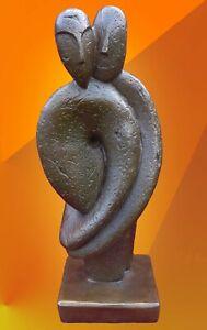 ART BRONZE STATUE ABSTRACT HOT CAST SCULPTURE LOVING COUPLE MODERN ARTS