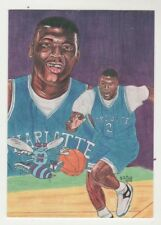 1992 Sports Art Images Promo #24 Larry Johnson Charlotte Hornet Basketball Card
