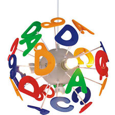 Kids Bedroom Colorful English Letters LED Pendant Light Chandelier Xmas Gift