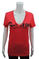 Womens Long T-Shirt Top Cotton 3301 G-Star Size 6 8 10 12 14 16 Burnt Orange