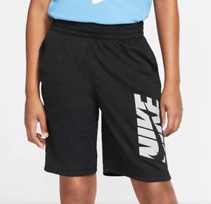 Nike Shorts Big Boys Small Black Authentic Dri Fit Breathable Mesh Gym Training