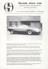 Strada 4/88 Mid Engined Coupe c1974 UK Sales Brochure Ford Mexico 1600 Engine